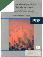 """Pradilla Cobos, Emilio (1984). Contribución a la crítica de la """"teoría urbana"""", del """"espacio"""" a la """"crisis urbana"""". México"""