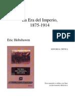 Hobsbawm  La era del Imperio