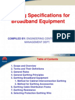 QA-ES-007 Earthing Specifications for Broadband Equipment