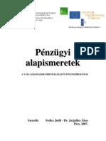 Sodics Judit - Dr. Jarjabka Ákos - Pénzügyi alapismeretek
