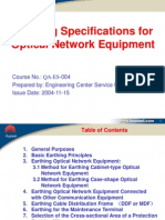 QA-ES-004 Earthing Specifications for Optical Network