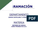 Programacion Refuerzo de Lengua 1 ESO Curso 2010-2011[1]