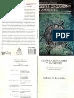 Lewontin  Genes, Organismo y Ambiente