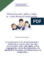 Diferencias entre niños y niñas en aulas MIxtas