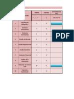 Cronograma de Actividades Del Proyecto de Factibilidad