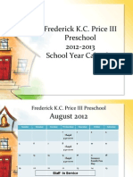 Price Preschool Calendar