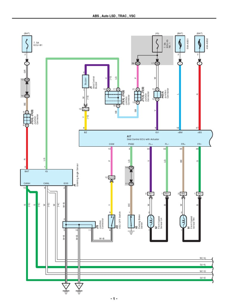 [DIAGRAM_38DE]  2007-2010 Toyota Tundra Electrical Wiring Diagrams | Anti Lock Braking  System | Machines | 2002 Toyota Tundra Steering Column Wiring Diagram |  | Scribd