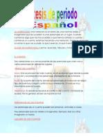 Sistesis de periodo español