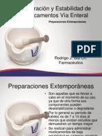 Preparación y Estabilidad de Medicamentos Vía Enteral