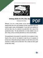 Writing Skills for EFL ESL Students