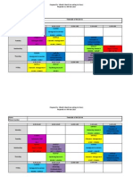 Class Timetable for Semester 4