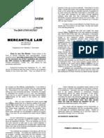 Domondon s 2007 Pre Week Mercantile Law Review