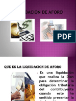 Liquidacion de Aforo