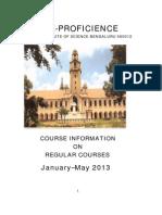 IISc courses