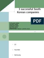 3 Successful South Korean Companies
