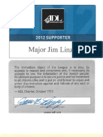 ADL and Military Bible Association Card Carrying Director James Linzey