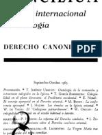 008 CONCILIUM, Revista internacional de Teología, DERECHO CANONICO septiembre 1965