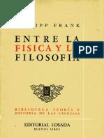 Introducción a Entre la Física y la Filosofía de Philipp Frank