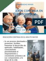 DIAPOSITIVAS EDUCACIÓN CONTINUA EN GEROPNTOLOGIA
