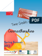 Carmarthenshire Time Credits Menu - Launch Week