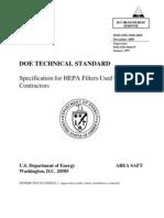 HEPA DOE-std-3020-2005