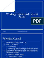 Working Capital and Current Assets