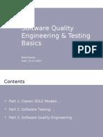 Software Quality Engineering & Testing Basics - Belal Raslan
