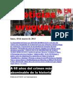 Noticias Uruguayas Lunes 18 de Marzo Del 2013