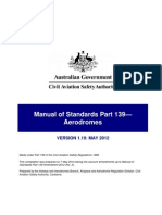 Civil Aviation Safety Authority Australia Manual of Stnadards (MOS) 139