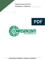 Relazione Presidente per l' assemblea elettiva Confesercenti