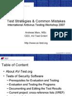 Test Strategies & Common Mistakes
