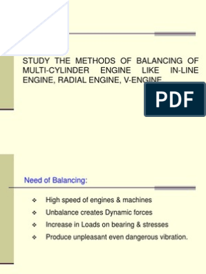 STUDY THE METHODS OF BALANCING OF MULTI-CYLINDER ENGINE | Torque | Force