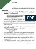 SGAF Application Procedures