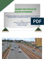 Status of Nairobi Roads 2012- 2013