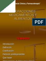 INTERACCIONES MEDICAMENTOS ALIMENTOS
