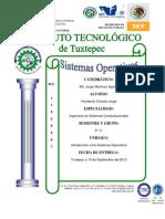 Sistemas Operativos Investigaciones Unidad I