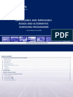 Inaccessible and Impassable Roads and Alternative Surfacing Programme Narrative Report for January 2009