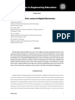 Using PBL to deliver course in Digital Electronics