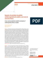 2012 Equações de predição da aptidão cardiorespiratória de adultos sem testes de exercícios físicos