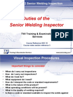 0.1 Duties of the Senior Welding Inspector