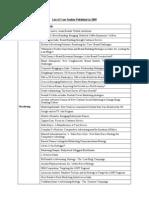 List of Case Studies-2009
