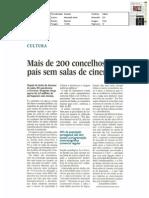 Mais de 200 concelhos do país sem salas de cinema