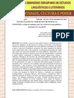 ESTUDO ANALÍTICO E COMPARATIVO DE FONÉTICA E FONOLÓGIA