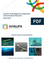 Acoustic Technologies for Underwater Communication Networks
