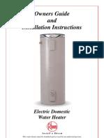 Hws Rheem Electric Manual