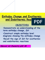 5 3 enthalpy change and exothermic and endothermic reactions