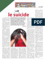 Les jeunes et le suicide (partie 1)