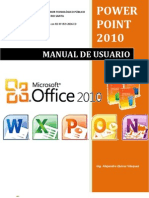 Portada de Manual Power Point 2010