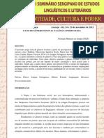 O USO DO GÊNERO TEXTUAL NA LÍNGUA PORTUGUESA