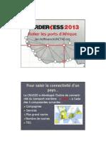 Relier les port d'Afrique